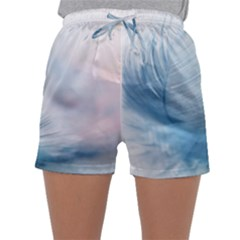 Feather Ease Slightly Blue Airy Sleepwear Shorts