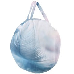 Feather Ease Slightly Blue Airy Giant Round Zipper Tote