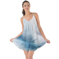 Feather Ease Slightly Blue Airy Love The Sun Cover Up