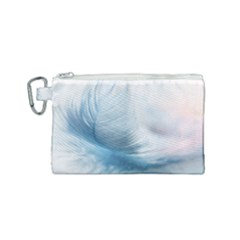 Feather Ease Slightly Blue Airy Canvas Cosmetic Bag (small)