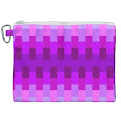Geometric Cubes Pink Purple Blue Canvas Cosmetic Bag (xxl) by Nexatart