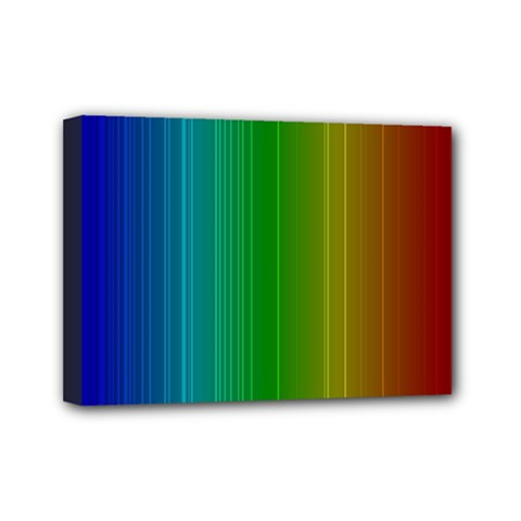 Spectrum Colours Colors Rainbow Mini Canvas 7  X 5