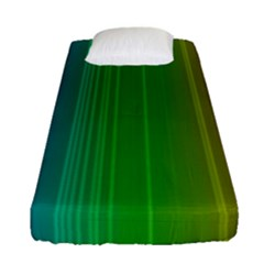 Spectrum Colours Colors Rainbow Fitted Sheet (single Size) by Nexatart