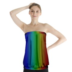 Spectrum Colours Colors Rainbow Strapless Top