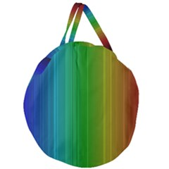 Spectrum Colours Colors Rainbow Giant Round Zipper Tote