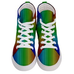 Spectrum Colours Colors Rainbow Women s Hi Top Skate Sneakers