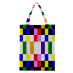 Rainbow Color Blocks Red Orange Classic Tote Bag