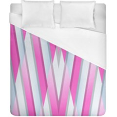 Geometric 3d Design Pattern Pink Duvet Cover (california King Size)