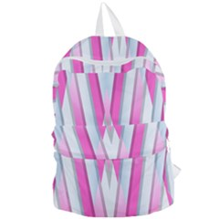 Geometric 3d Design Pattern Pink Foldable Lightweight Backpack