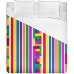 Rainbow Geometric Design Spectrum Duvet Cover (california King Size) by Nexatart