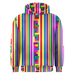Rainbow Geometric Design Spectrum Men s Overhead Hoodie