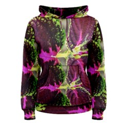 Plant Purple Green Leaves Garden Women s Pullover Hoodie by Nexatart
