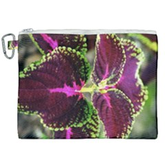 Plant Purple Green Leaves Garden Canvas Cosmetic Bag (xxl) by Nexatart