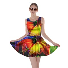 Fractal Pattern Abstract Chaos Skater Dress