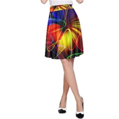Fractal Pattern Abstract Chaos A Line Skirt