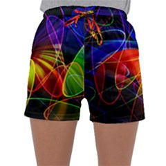 Fractal Pattern Abstract Chaos Sleepwear Shorts