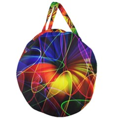 Fractal Pattern Abstract Chaos Giant Round Zipper Tote