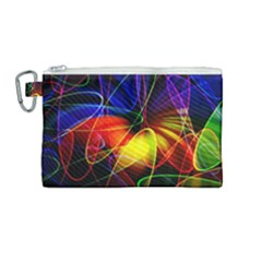 Fractal Pattern Abstract Chaos Canvas Cosmetic Bag (medium)