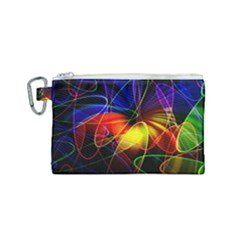 Fractal Pattern Abstract Chaos Canvas Cosmetic Bag (small)