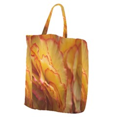 Flowers Leaves Leaf Floral Summer Giant Grocery Zipper Tote
