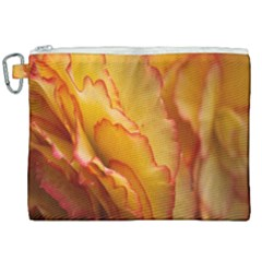 Flowers Leaves Leaf Floral Summer Canvas Cosmetic Bag (xxl) by Nexatart