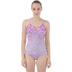 Halftone Dot Background Pattern Cut Out Top Tankini Set