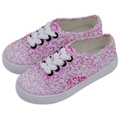 Halftone Dot Background Pattern Kids  Classic Low Top Sneakers by Nexatart