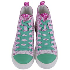 Halftone Dot Background Pattern Women s Mid Top Canvas Sneakers