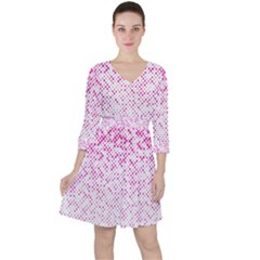 Halftone Dot Background Pattern Ruffle Dress
