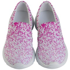 Halftone Dot Background Pattern Kid s Lightweight Slip Ons by Nexatart