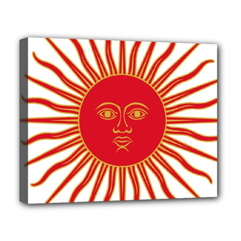 Peru Sun Of May, 1822 1825 Deluxe Canvas 20  X 16   by abbeyz71