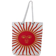 Peru Sun Of May, 1822 1825 Full Print Rope Handle Tote (large) by abbeyz71