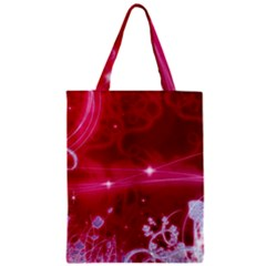 Crystal Flowers Zipper Classic Tote Bag by Sapixe