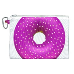 Donut Transparent Clip Art Canvas Cosmetic Bag (xl) by Sapixe