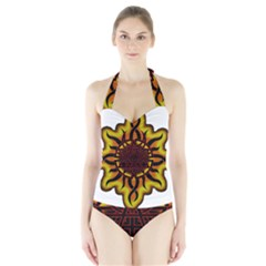 Disturbed Is An American Heavy Metal Band Logo Halter Swimsuit