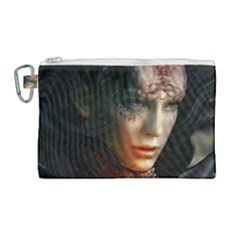 Digital Fantasy Girl Art Canvas Cosmetic Bag (large) by Sapixe