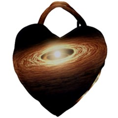 Erupting Star Giant Heart Shaped Tote