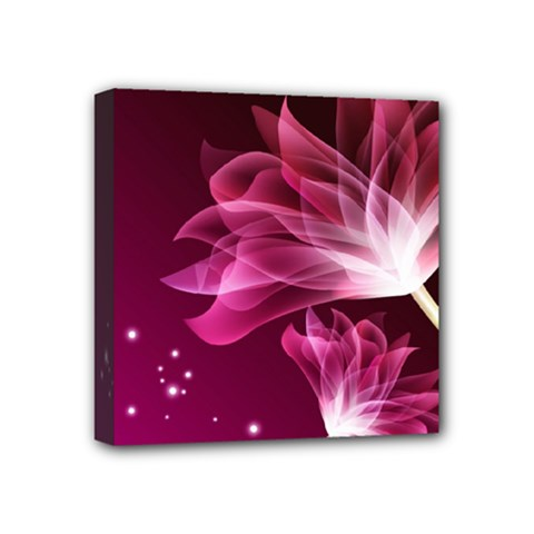 Drawing Flowers Lotus Mini Canvas 4  X 4  by Sapixe