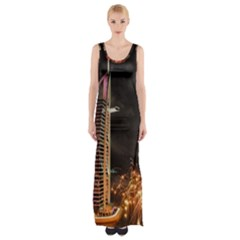 Dubai Burj Al Arab Hotels New Years Eve Celebration Fireworks Maxi Thigh Split Dress by Sapixe