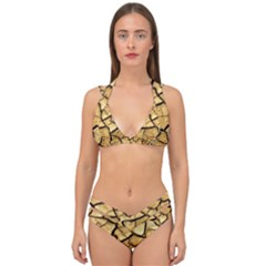 Dry Ground Double Strap Halter Bikini Set by Sapixe