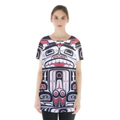 Ethnic Traditional Art Skirt Hem Sports Top by Sapixe