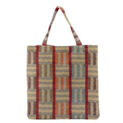 Fabric Pattern Grocery Tote Bag