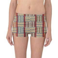 Fabric Pattern Reversible Boyleg Bikini Bottoms