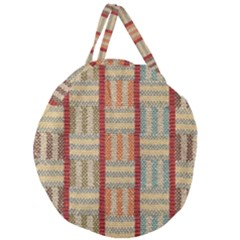 Fabric Pattern Giant Round Zipper Tote