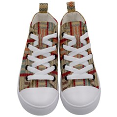 Fabric Pattern Kid s Mid Top Canvas Sneakers