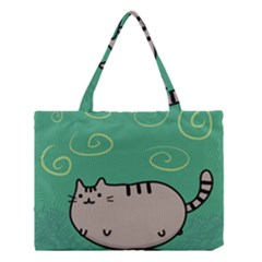 Fat Cat Medium Tote Bag