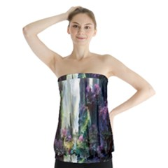 Fantastic World Fantasy Painting Strapless Top by Sapixe