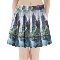 Fantastic World Fantasy Painting Pleated Mini Skirt by Sapixe