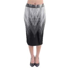 Feather Graphic Design Background Midi Pencil Skirt