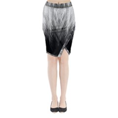 Feather Graphic Design Background Midi Wrap Pencil Skirt